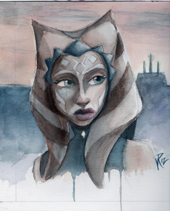 Ahsoka watercolor